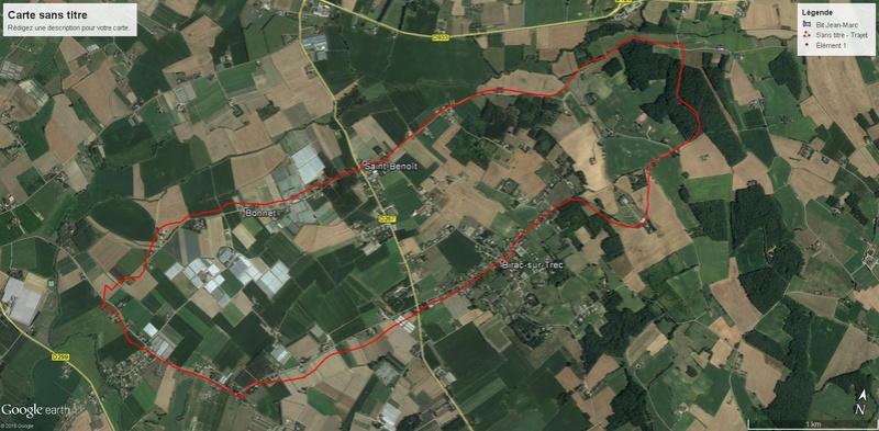 course a pied autour de birac/trec Course10