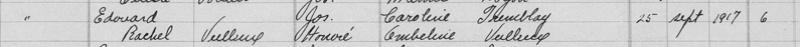 Édouard Gagnon et Rachel Veilleux 1917-010