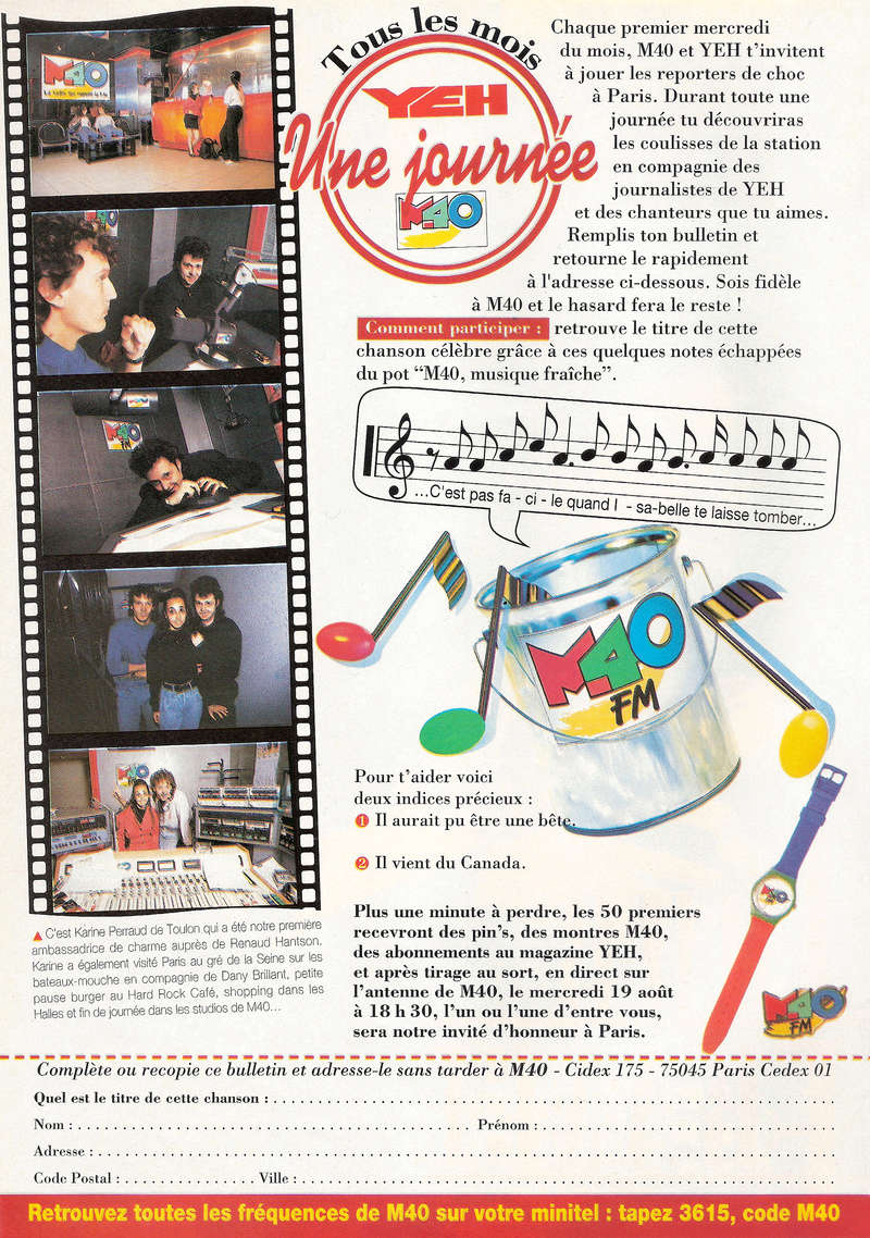 Les Jeux Concours Magazine Yeh et M40 Fm Tous_l12