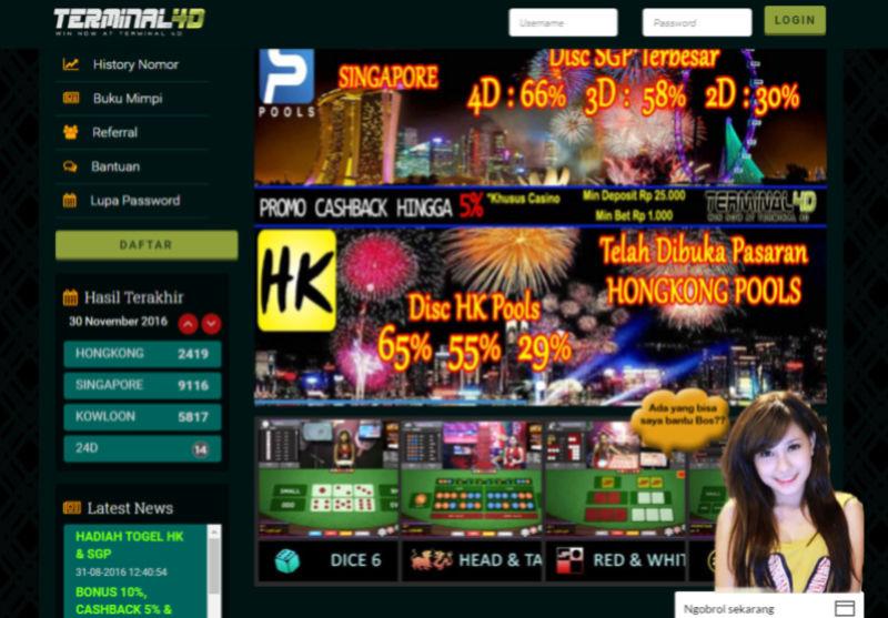 Terminal4D.com - Bandar Judi Togel SGP & Live Casino  Termin10