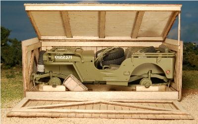 Maquette de Jeep Willys à construire  Crate10