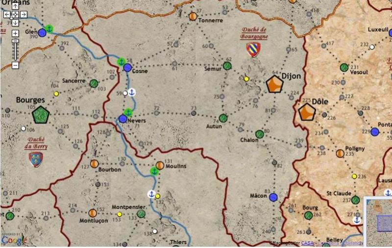 Carte Bourgogne/Bretagne/Normandie/Artois 13347210