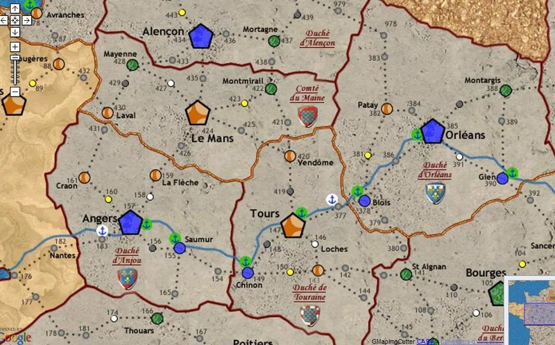 Carte Anjou Maine Tourraine Orléans 20122610