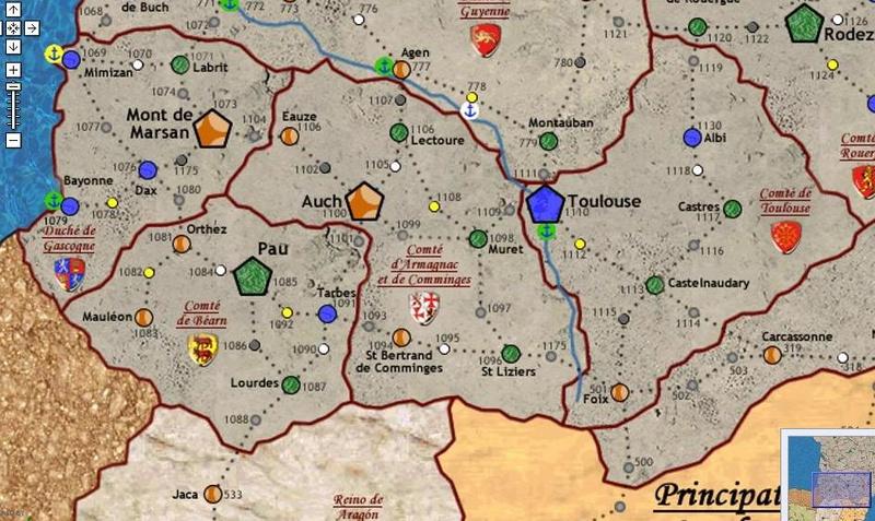 Carte Lyonnais Dauphinois/Armagnac Bearn Toulouse 70485810