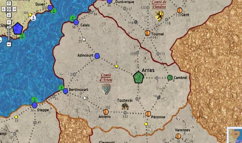 Carte Bourgogne/Bretagne/Normandie/Artois 94799710