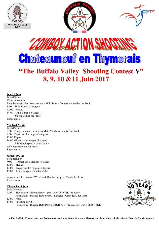 """BUFFALO VALLEY"" du 8 au 11 Juin 2017 bulletin d'inscription Inscri10"