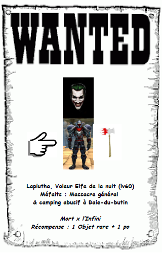 WANTED LIST Affich12