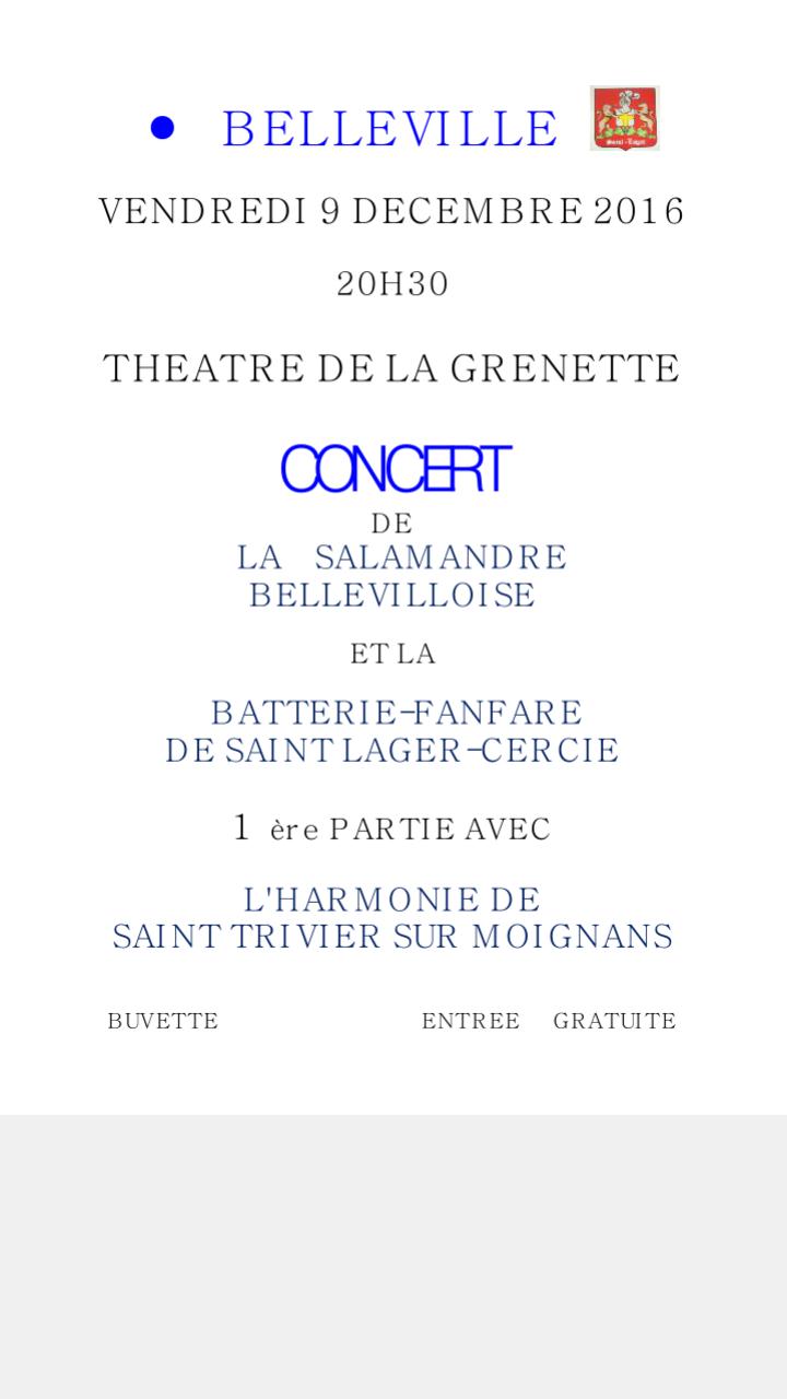 Concert à Belleville-sur-Saône le 09 décembre 2016 Screen10
