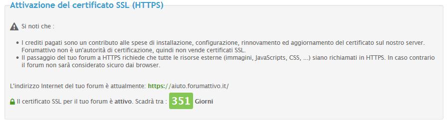 I certificati SSL sono ora disponibili per TUTTI i forum Forumattivo Scherm31