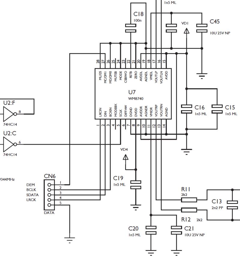 Récupérer le DAC d'un lecteur CD intégré pour un lecteur de réseau Captur11