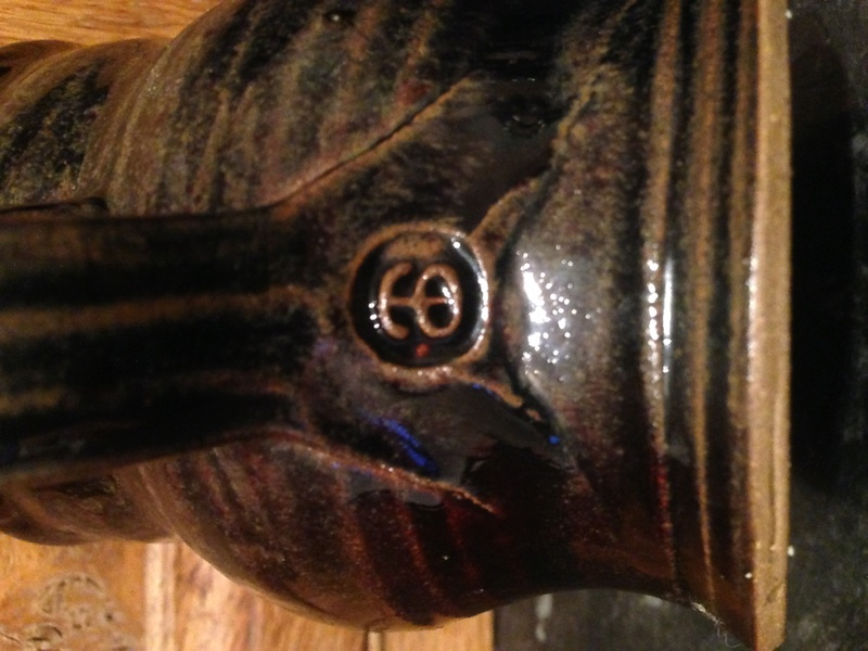 Owl slipware mug  - Alexander Sharp    Morar Pottery? Img_0113