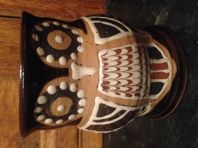 Owl slipware mug  - Alexander Sharp    Morar Pottery? Img_0114