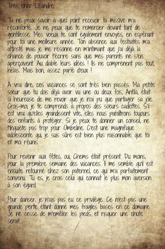 Léandre Rosier ⏏  Boîte aux Lettres Lettre15