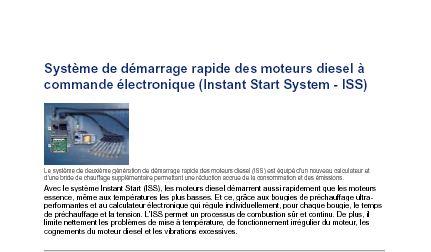 Système de démarrage rapide des moteurs diesel à commande électronique (Instant Start System - ISS) Captur12