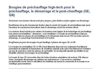 Bougies de préchauffage high-tech pour le préchauffage, le démarrage et le post-chauffage (GE, GN)  Captur13