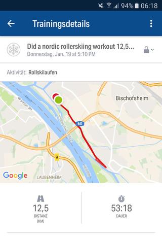 Welche Methoden gibt es Cross-Skating-Touren und Routen aufzuzeichnen? Screen15
