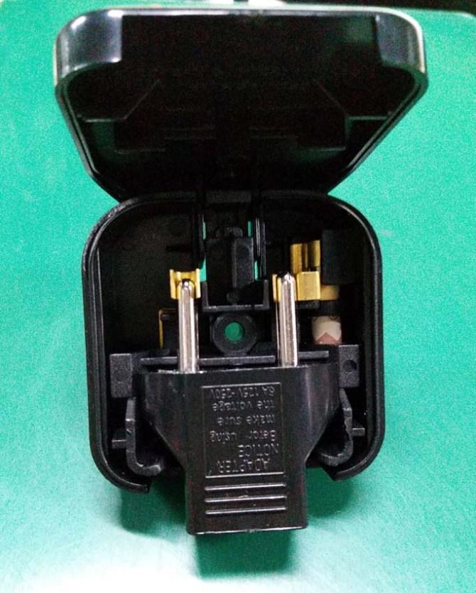 2-Pin Euro Plug to 3-Pin UK Mains Adapter 2pin-a10