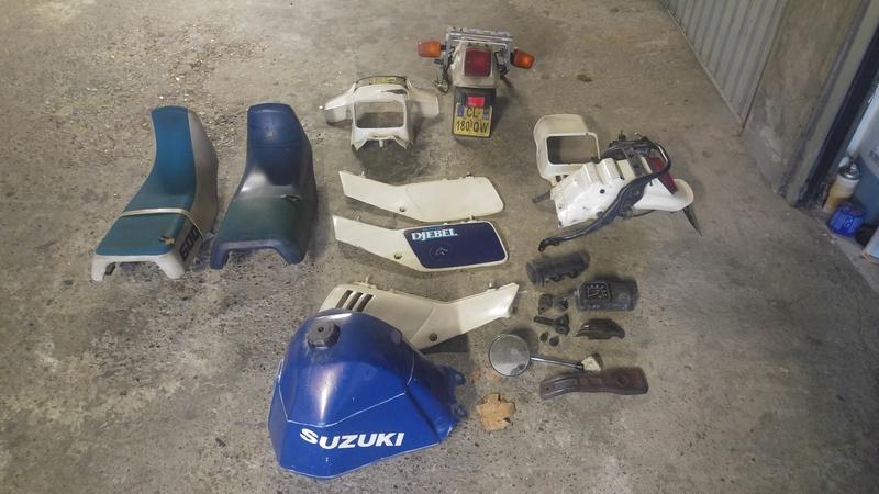 SUZUKI DR 600 DJEBEL nombreuses pieces origine 20161216