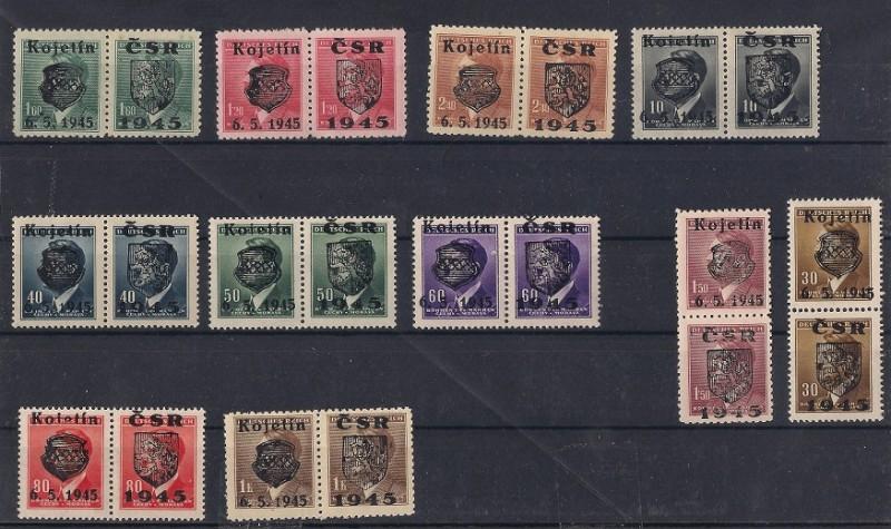 Timbres de la Résistance en Tchécoslovaquie Kojeti10
