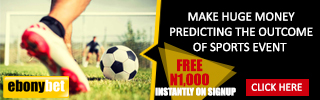 free N1000 to all users on sign up from Ebonybet Ebony10
