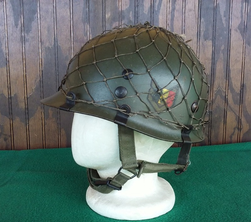 Jump Helmet with Old School Camouflage Cover 2016-111