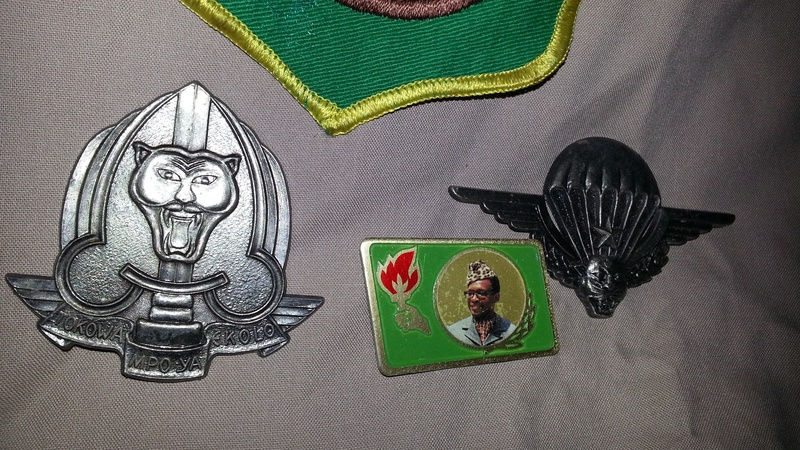 Zaire Army 31st Parachute Brigade Items 20140620
