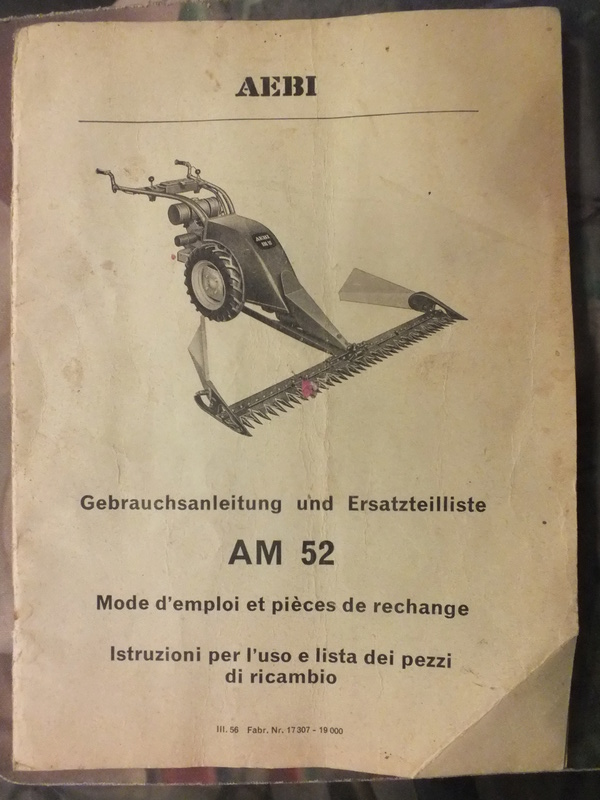 Aebi - recherche toute doc motofaucheuse AEBI AM 52 Dscf7810
