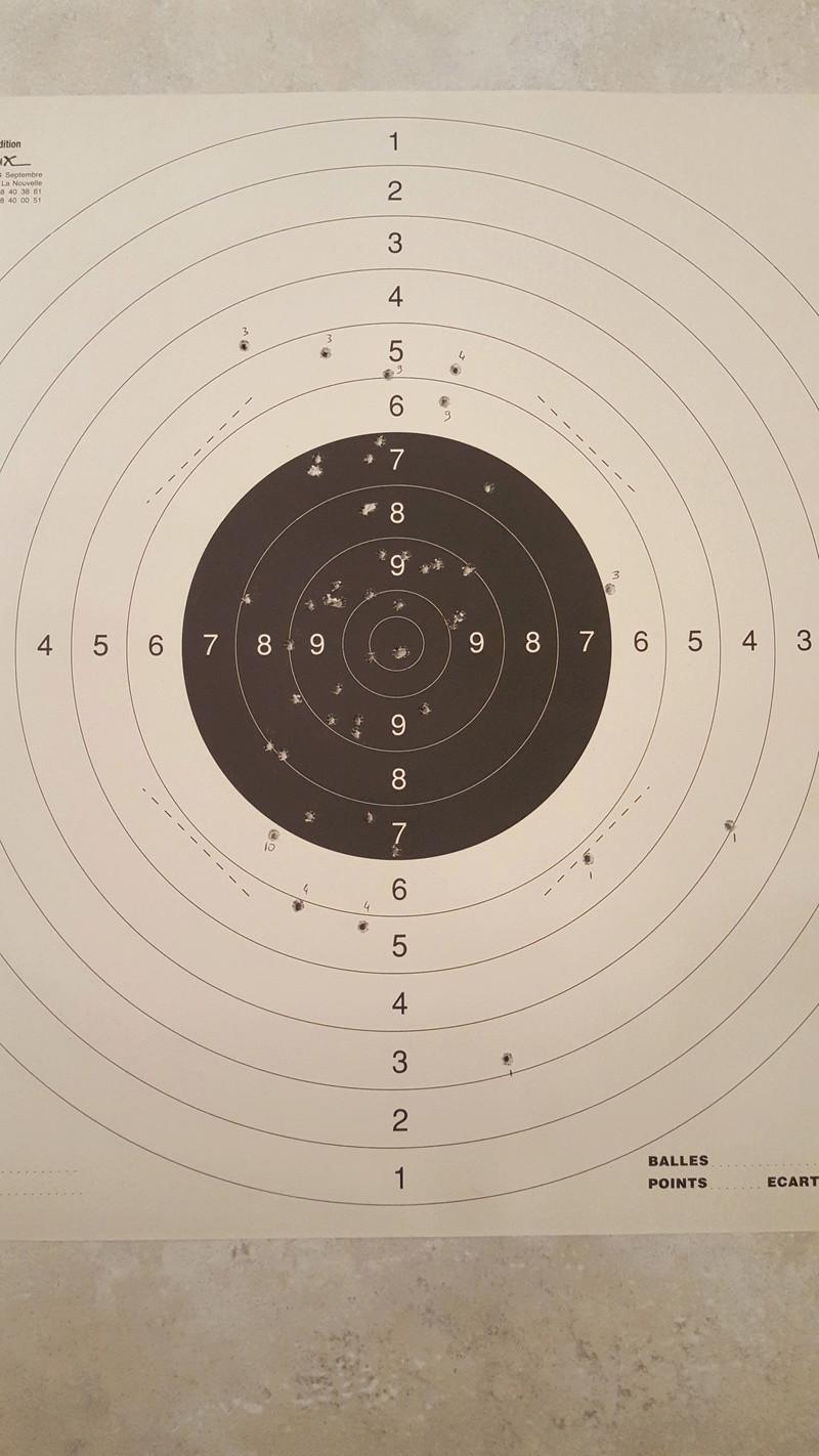 1ère cible au 25m  20170113