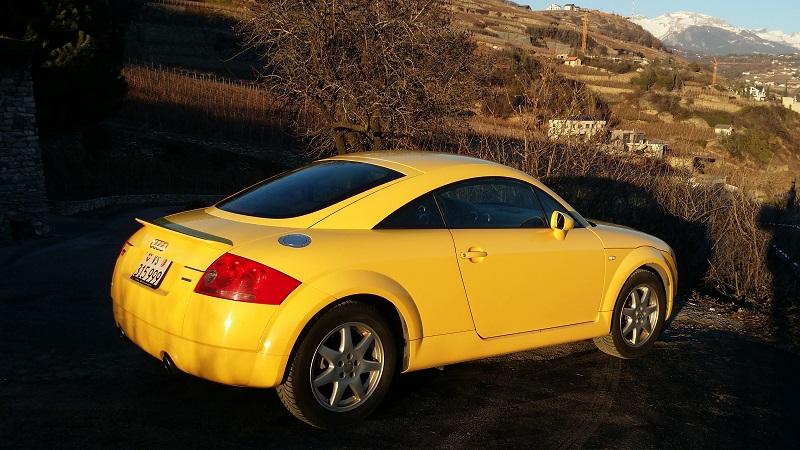 Audi tt 1.8 quattro 225 jaune 299'568 km 20161210