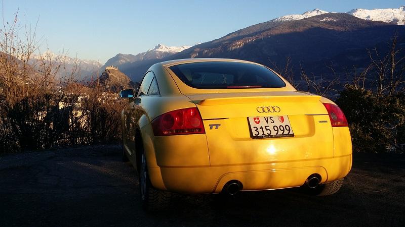 Audi tt 1.8 quattro 225 jaune 299'568 km 20161211