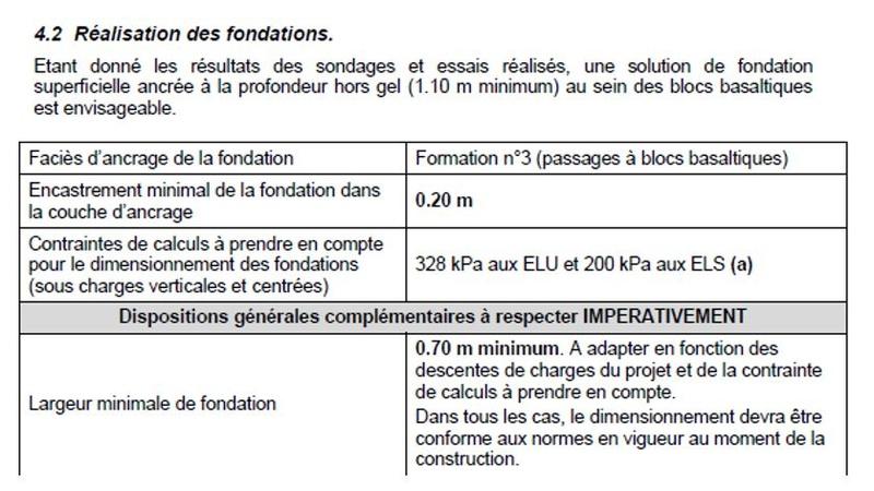 conseils fondations et liaison dalle-fondations Sol412