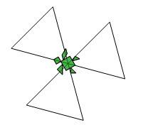 Il fiore verde Treper10