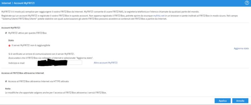 Pobelma registrazione account MyFritz Cattur10