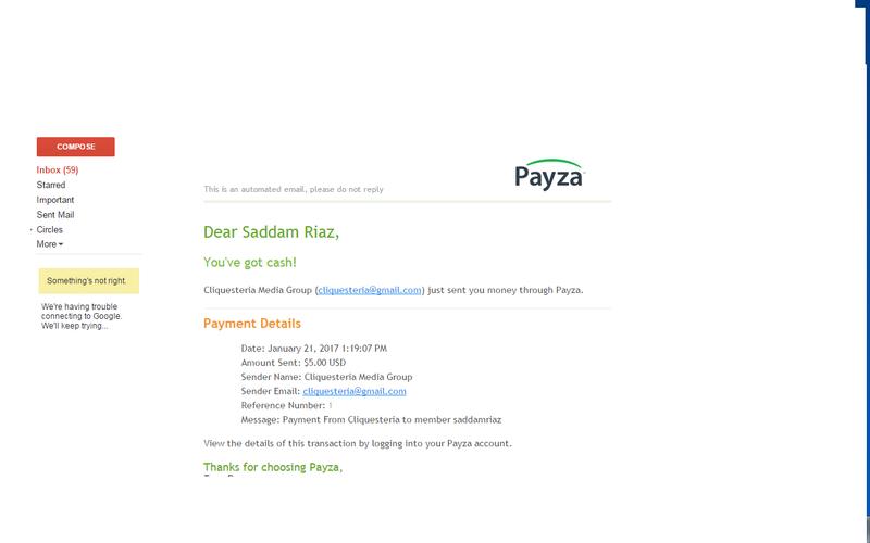 www.cliquesteria.net payment proof Jan 21 2017 06:19:04 PM Clique10