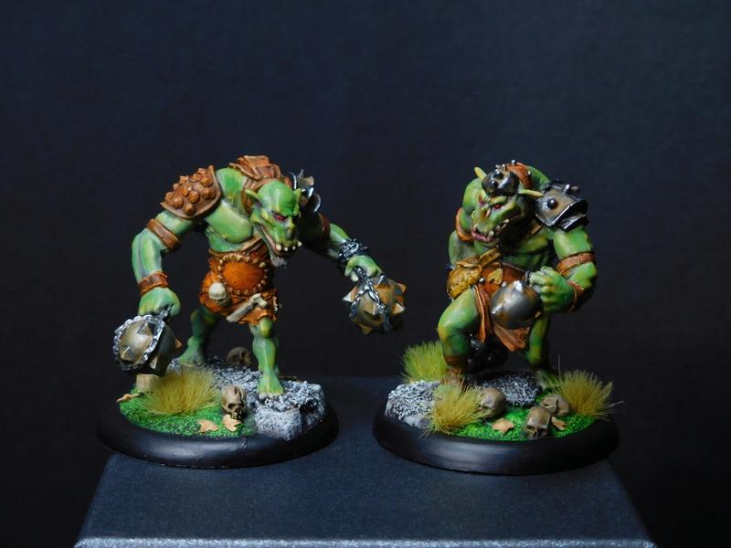 Début de peinture Orcs et Humains Dscn9810
