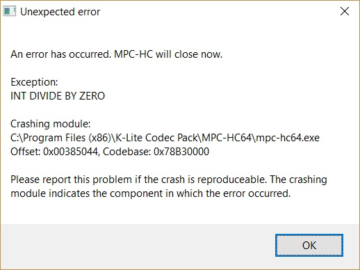 MPC Crash - INT DIVIDE BY ZERO Mpc_cr10