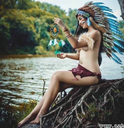 Bộ ảnh thổ dân bán nude  1211