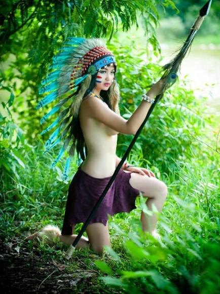 Bộ ảnh thổ dân bán nude  515