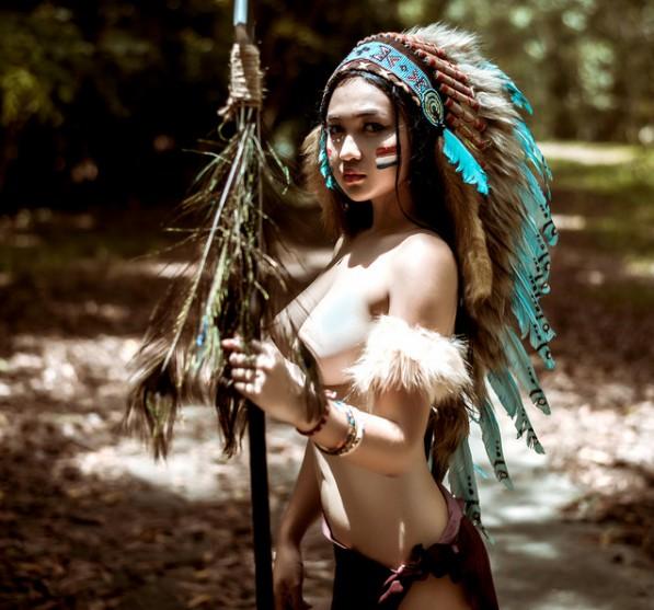 Bộ ảnh thổ dân bán nude  614