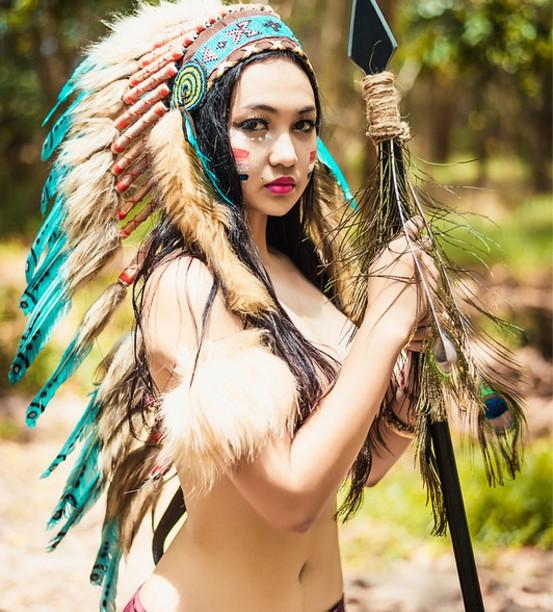 Bộ ảnh thổ dân bán nude  714