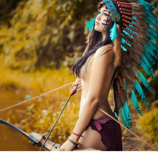 Bộ ảnh thổ dân bán nude  913