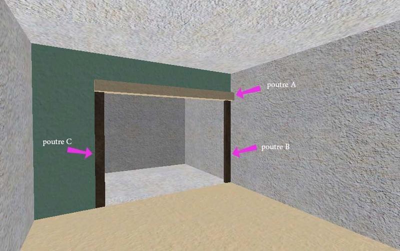 ouverture de cloison en machefer. Black Bedroom Furniture Sets. Home Design Ideas