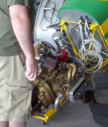 Aircooled in an airplane Engine10