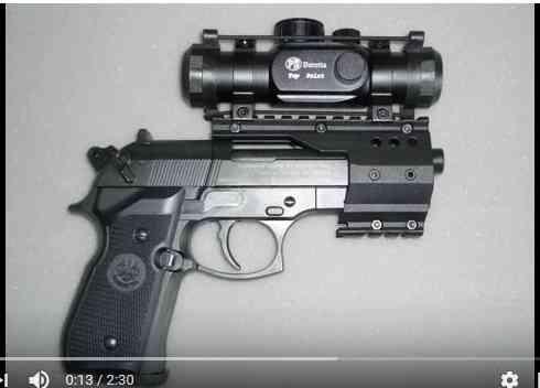 beretta 92 fs sniper grey avec red dot walther  Berett11