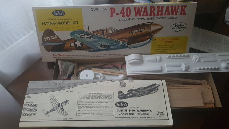 Guillows P-40, my next R/C build project for TD 049 platform Guillo10