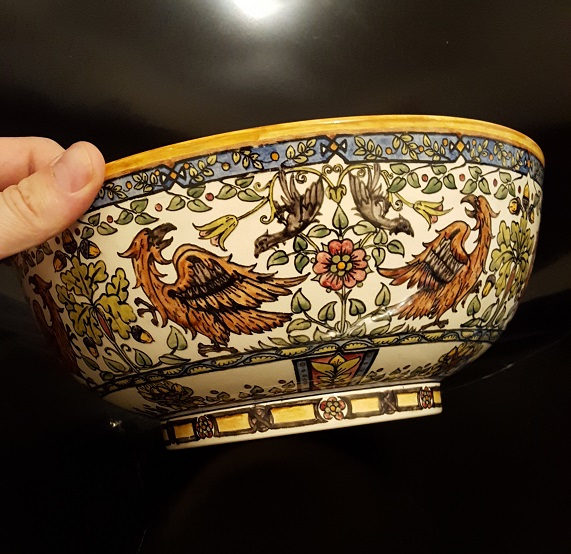 Arts & Crafts English Pottery Bowl Signed & Dated ID Please  20160810