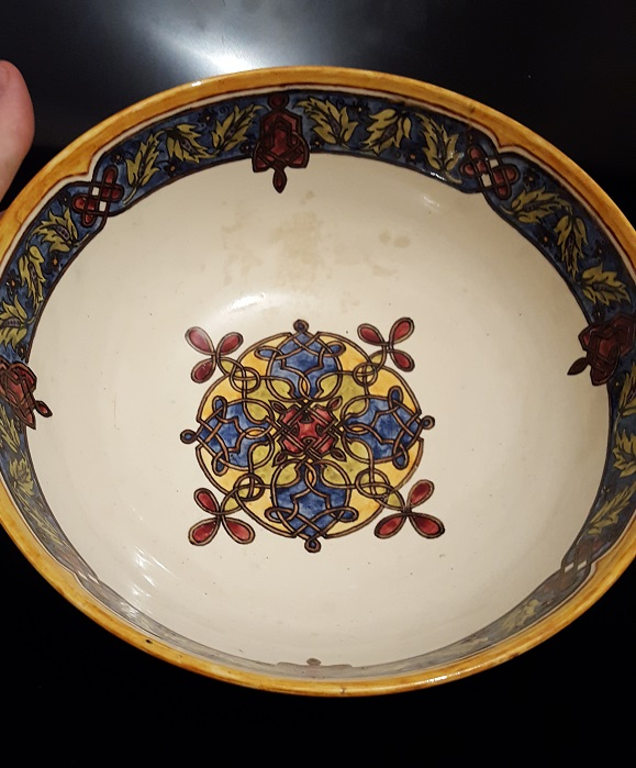 Arts & Crafts English Pottery Bowl Signed & Dated ID Please  20160812