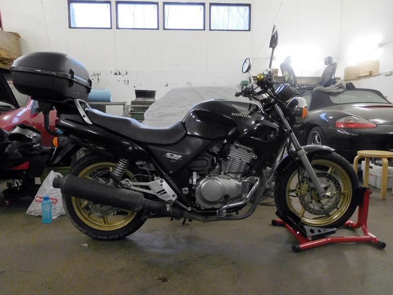2000 CB500 Brat Style Cafe Racer Project Dscn0710