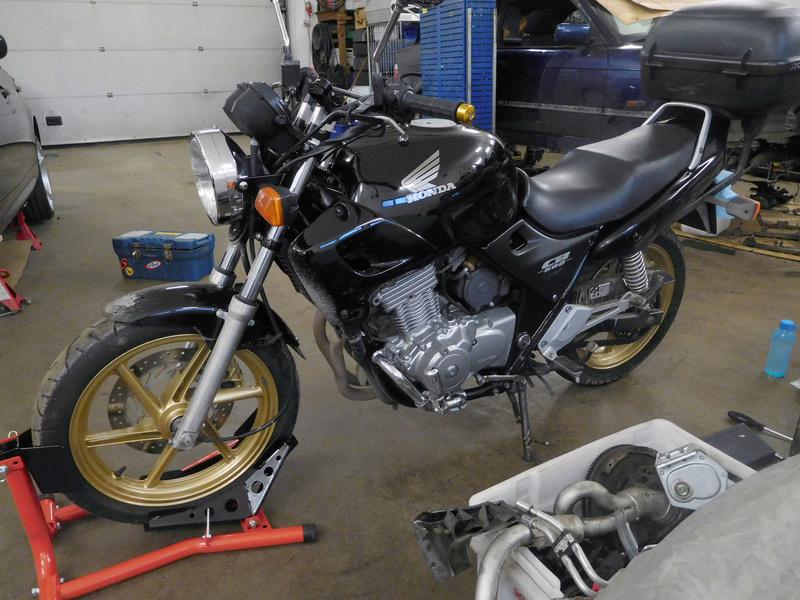 2000 CB500 Brat Style Cafe Racer Project Dscn0711