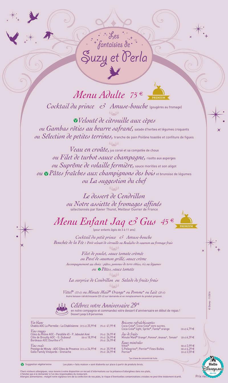 Cartes des restaurants de Disneyland Paris Menu-d10